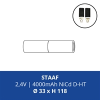 ACCUPACK PS NICD D 2,4V/4000mAh STAAF FASTON 4,8MM