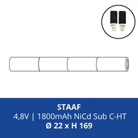 ACCUPACK PS NICD CS 4,8V/1800mAh STAAF FASTON 4,8MM