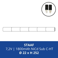 ACCUPACK PS NICD CS 7,2V/1800mAh STAAF FASTON 4,8MM