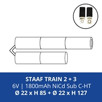 ACCUPACK PS NICD CS 6V/1800mAh STAAF TRAIN 2+3 FASTON 4,8MM