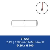 ACCUPACK PS NIMH HT AA 2,4V/1300mAh STAAF INCL. DRAAD