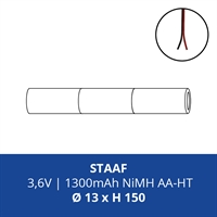 ACCUPACK PS NIMH AA 3,6V/1300mAh STAAF INCL. DRAAD