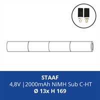 ACCUPACK PS NIMH SC 4,8V/2000MAH STAAF FASTON 4,8MM