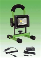 FLOODLIGHT LED PORTABLE 10W MODEL 1 FLASH GROEN